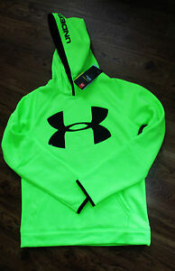 Boys Under Armour NWT Hoodie size Youth L 1416 Fleece Highlight Big Logo