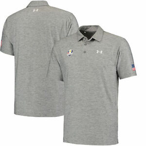 Under Armour 2016 Ryder Cup Playoff Performance Polo - Heathered Gray - Golf