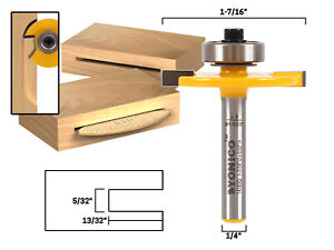 #10 Biscuit Joint Slot Cutter Router Bit - 1/4
