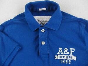 Abercrombie & Fitch Men's 100% Cotton Muscle SS Royal Blue Polo Shirt - Large