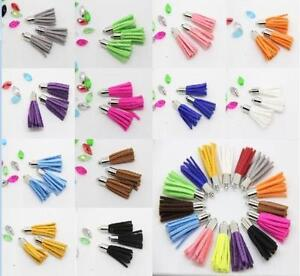 Wholesale 9 90 Pcs Leather Velvet Terylene Tassel Pendant DIY Jewelry Finding $9.99