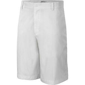 nike mens dri-fit flat front golf shorts zip front white 4 pockets various sizes
