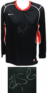 HOPE SOLO Signed Nike Black Dry Fit Soccer Goalie Jersey - SCHWARTZ