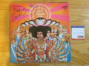 NOEL REDDING of JIMI HENDRIX EXPERIENCE signed 1967 AXIS BOLD AS LOVE Record PSA