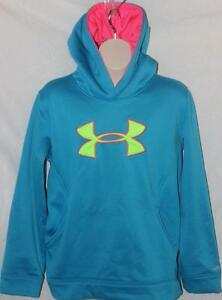 Under Armour Girl's Hoodie Loose Storm Turquoise Size YXL FREE SHIPPING!