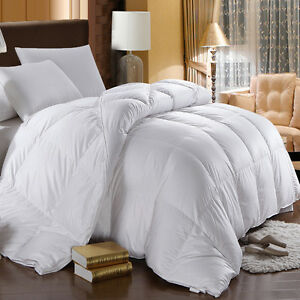 Extra Warmth 750 Fill Power White Goose Down Comforter 500 Thread Count