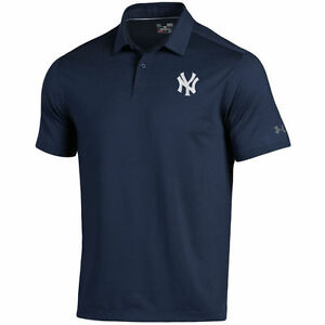 New York Yankees Under Armour Coolswitch Ice Pick Performance Polo - Navy - MLB