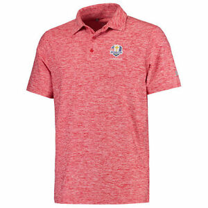 2016 Ryder Cup Under Armour Elevated Heather Polo - Red - Golf
