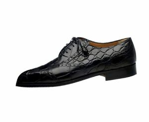 Ferrini Dress Shoes Mens Alligator Lace Up Lined Leather F3673
