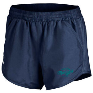 Seattle Mariners Under Armour Women's Fly By Running Shorts - Navy - MLB