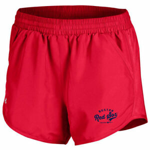 Boston Red Sox Under Armour Women's Fly By Running Shorts - Red - MLB