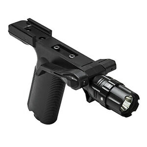 VISM Tactical Foregrip w 250 Lumen STROBE Flashlight + Mount Fits WEAVER Rails