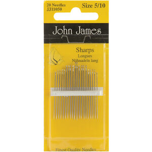 Colonial Needle Sharps Hand Needles Size 5 10 20 Pkg $5.54