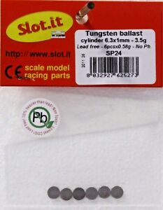 SLOT IT SISP24 TUNGSTEN BALLAST WEIGHT  NO LEAD 132 SLOT CAR PART