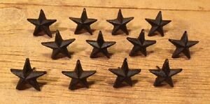 Cast Iron Nail Star 2quot; wide Western DIY Crafts Set of 12 0170 02111