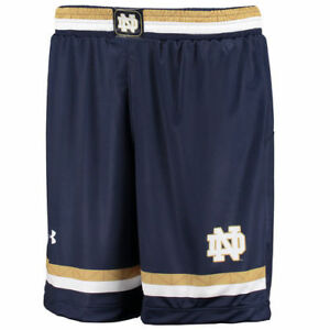 Notre Dame Fighting Irish Under Armour Replica Lacrosse Short Bottoms - Navy