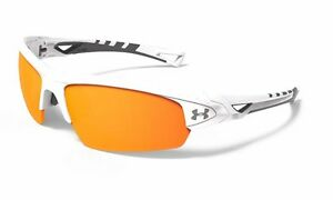 Under Armour UA Octane Shiny White Orange Multiflection Adult Sunglasses 100941