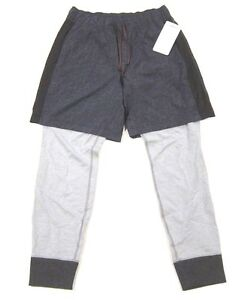 NWT Mens Lululemon One Two Jogger Pants 2 in 1 Shorts and Sweats Herringbone L
