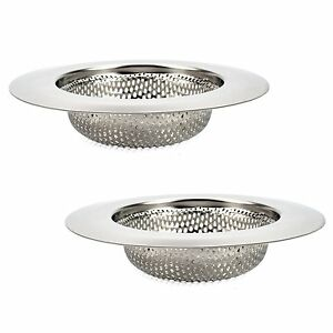 2 Pack 4.5 Stainless Steel Kitchen Sink Strainer Drain Stopper Deep Mesh Filter