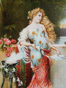 Beautiful Victorian lady vintage art new print $13.95