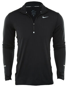 Nike Dry Element Half-Zip Black Dri-Fit Running Top Shirt 683485-010 Mens Size L