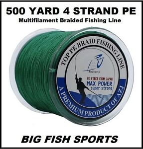500M 50LB Super Strong 4 Strand Pro PE Power Braided Fishing Line 500 YD NEW