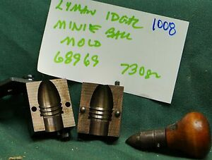 #1008 Lyman Ideal bullet mold 68969 Minie ball Hollow base bullet