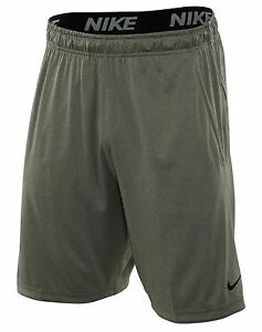 Nike Dry 9 Inch Short Mens 742517-063 Dark Grey Dri-FIT Training Shorts Size L