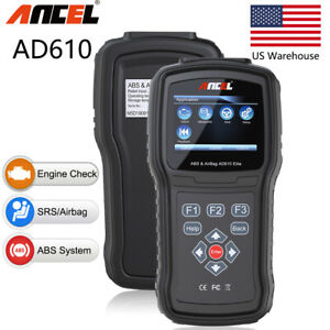 Auto OBD2 ABS Airbag SRS Reset SAS Scan OBD Diagnostic Scanner Clear Code Reader