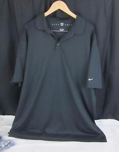 Nike Fit Dry Mens Golf Shirt Size 3XL Black XXXL White Nike Swoosh