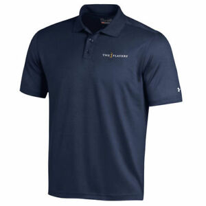 THE PLAYERS Under Armour Performance Polo - Navy - Golf