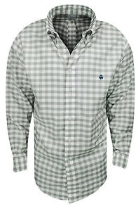 New Brooks Brothers- Large Gingham Oxford Sport Shirt Alloy Size Large