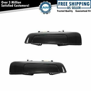 Door Handles Exterior Black Rear Left LH & Right RH Pair Set for Galant Mirage