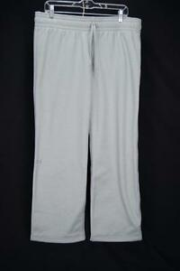 Under Armour Storm 1 Womens Sweat Pants Loose Fit Gray Nubby Fleece Lined L JE