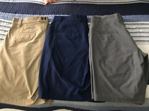 UNDER ARMOUR MENS 34 LOT 3 GOLF SHORTS  CASUAL COOL HEAT GEAR
