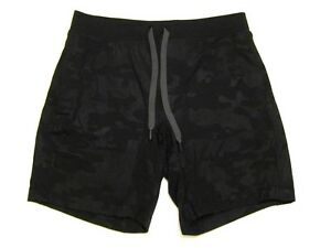 RARE Mens Lululemon Anti Gravity Short in Lay Low Camo Black Camouflage sz L