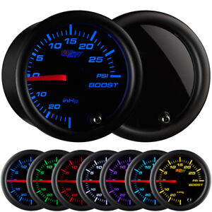 GlowShift 52mm Tinted 7 Color PSI Turbo Boost Pressure Gauge Meter w Tinted Face $42.99