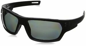 Under Armour Men's Battlewrap Storm Polarized Rectangular Satin Black 66 mm