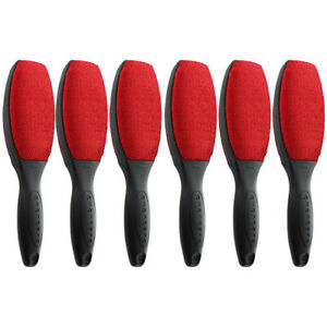 Evercare Magik Double Sided Lint Brushes With Grip Handles Red Pack of 6