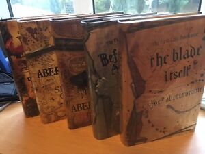 SIGNED 5 book Set -  Joe Abercrombie includes The Blade Itself SIGNED HB 1st1st