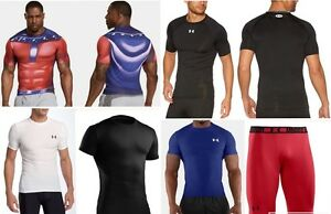 7 lot UNDER ARMOUR compression fit shirts shorts alter ego x men heat gear large