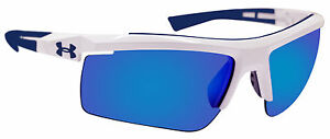 Under Armour 8600082-104161 core 2.0 shiny white navy frame blue mirror lens new