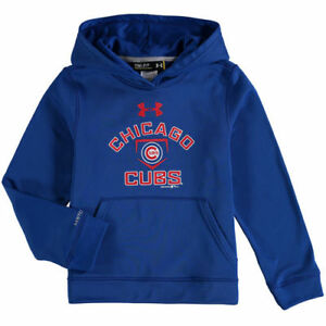 Chicago Cubs Under Armour Youth Armour Fleece MLB Hoodie - Royal - MLB