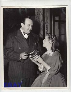 Director George Sidney June Allyson VINTAGE Photo Three Musketeers candid on set