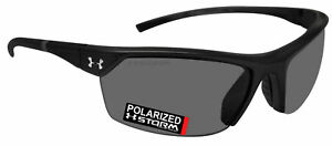 Under Armour 8630050-000008 zone 2.0 shiny black gray storm polarized lens new