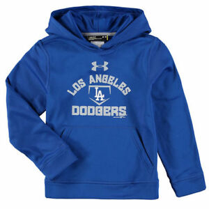 Los Angeles Dodgers Under Armour Youth Fleece Pullover Hoodie - Royal - MLB