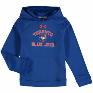Toronto Blue Jays Under Armour Youth Fleece Pullover Hoodie - Royal - MLB