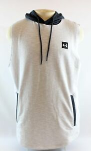 Under Armour Mens 1304904 Gray Hooded Loose Sleeveless Top Size X-Large MSRP $54