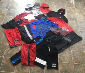 24pc. Nike Under Armour Adidas Hoodies Shirts Shorts Pants Lot Boys Youth  LXL