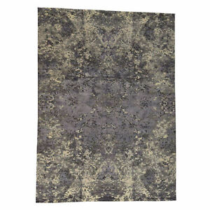 10'2''x13'10'' Hand-Knotted Wool and Silk Abstract Design Modern Rug R37148